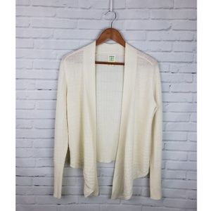 Title Nine Right Wrap Cream Wool Sweater Cardigan